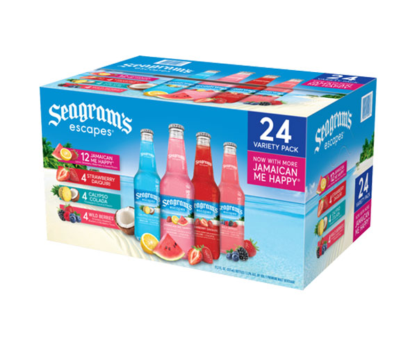 Seagrams Escapes 4 Flavor Variety Pack